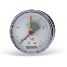 Манометр Watts аксиальный F+R101 (MAL) 63-4