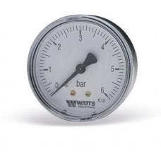 Манометр Watts аксиальный F+R100 (MAL) 63-6